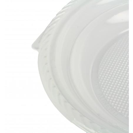 Prato Plastico Fundo PS Branco 205 mm (100 Unidades)