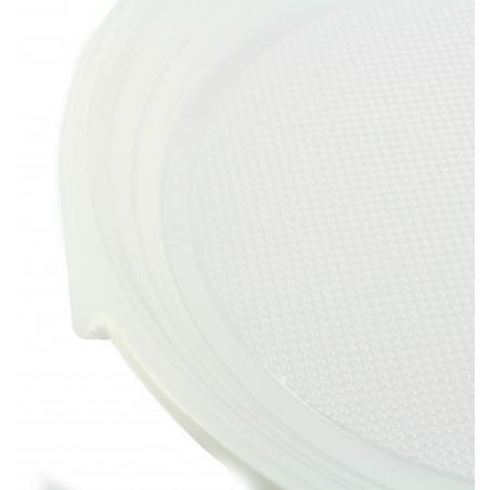 Prato Plastico Raso PS Branco 220 mm (100 Unidades)