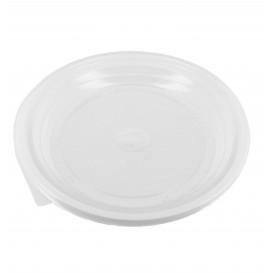 Prato Plástico Raso PS Branco 170 mm (100 Unidades)