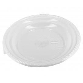 Prato Plástico Fundo PS Branco 205 mm (100 Unidades)