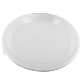 Prato Plástico Raso PS Branco 220 mm (1.400 Unidades)