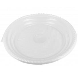 Prato Plástico Raso PS Branco 205 mm (100 Unidades)