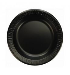 Prato Isopor Preto 150 mm (125 Unidades)