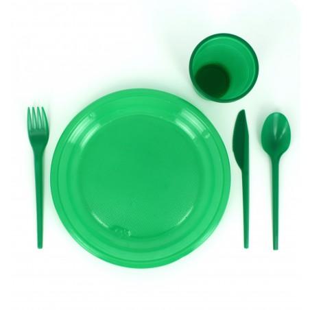 Garfo de Plastico Verde PS 165 mm (900 Uds)