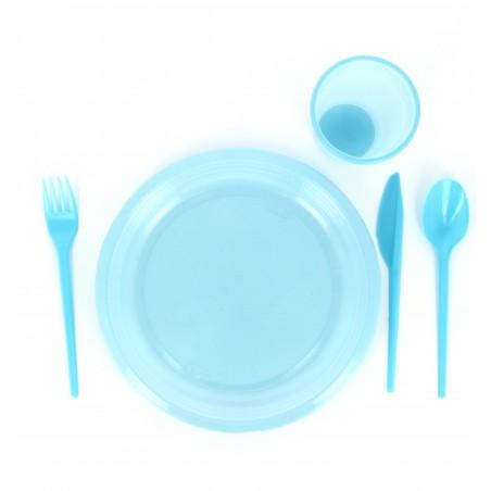 Garfo de Plastico Grande Azul PS 165 mm (900 Uds)