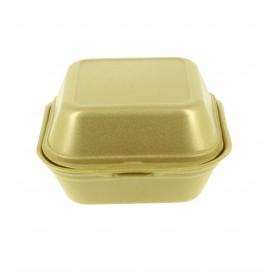 Embalagem Foam Hamburguer Pequena Ouro (500 Uds)