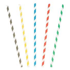 Palhinhas Direitas de Cores Individual Ø6mm 20cm (6000 Unidades)