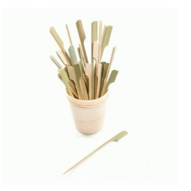 Pick Bambu Decorado Remo 180mm (100 Unidades)