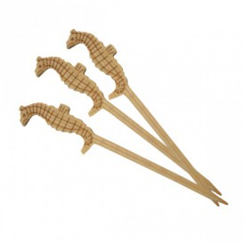 Pick Bambu Decorado Hipocampo 90mm (100 Unidades)
