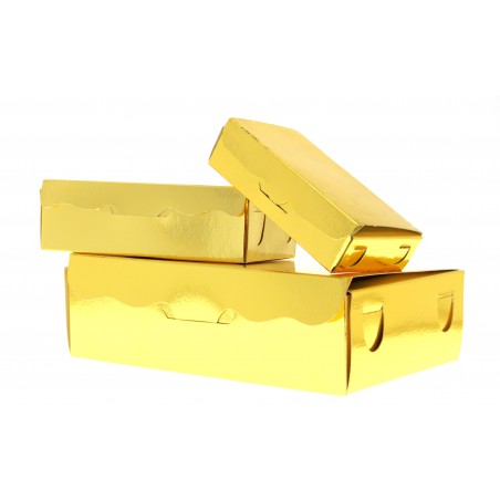 Caixa Bombons e Doces Ouro 11x6,5x2,5cm 100g (5 Uds)