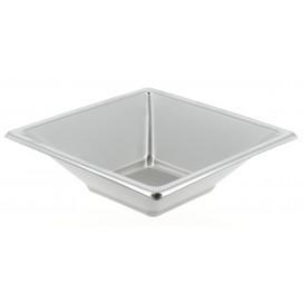 Tigela Plastico Quadrada Prata 120x120x40mm (150 Uds)