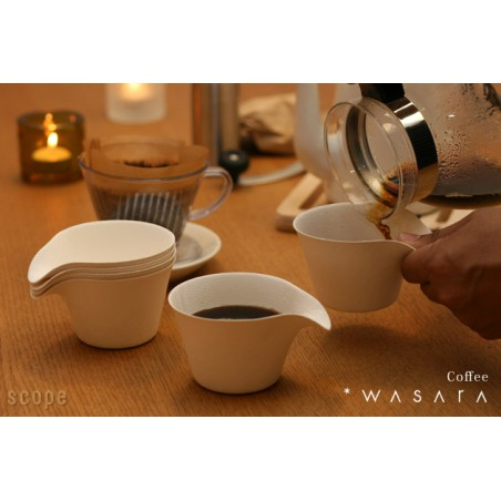 Copo Coffee Cup Wasara Biodegradável 150 ml (100 unidades)
