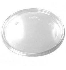 Tampa Plana Plastico Transparente 105mm (100 uds)