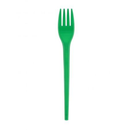 Garfo de Plastico Verde PS 165 mm (15 Uds)