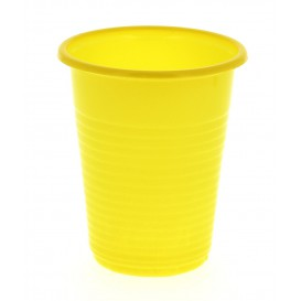 Copo de Plastico PS Amarelo 200 ml (24 Unidades)