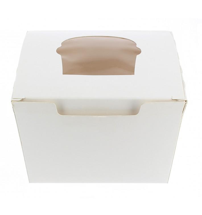 Caixa 1 Cupcake Branco 11x10x7,5cm (20 Unidades)