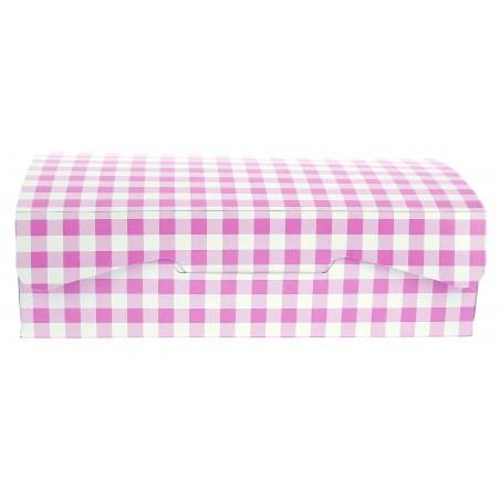 Caixa Pastelaria Rosa 18,2x13,6x5,2cm 500g (5 Uds)