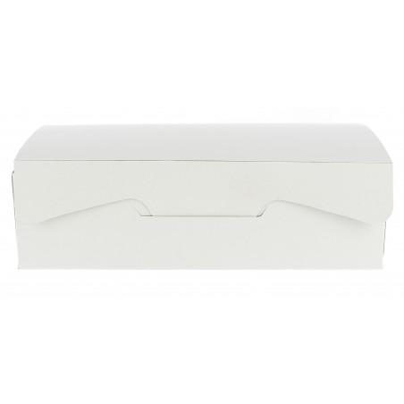 Caixa Pastelaria Branca 18,2x13,6x5,2cm 500g (5 Uds)