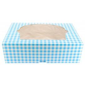 Caixa 6 Cupcakes Azul 24,3x16,5x7,5cm (100 Unidades)