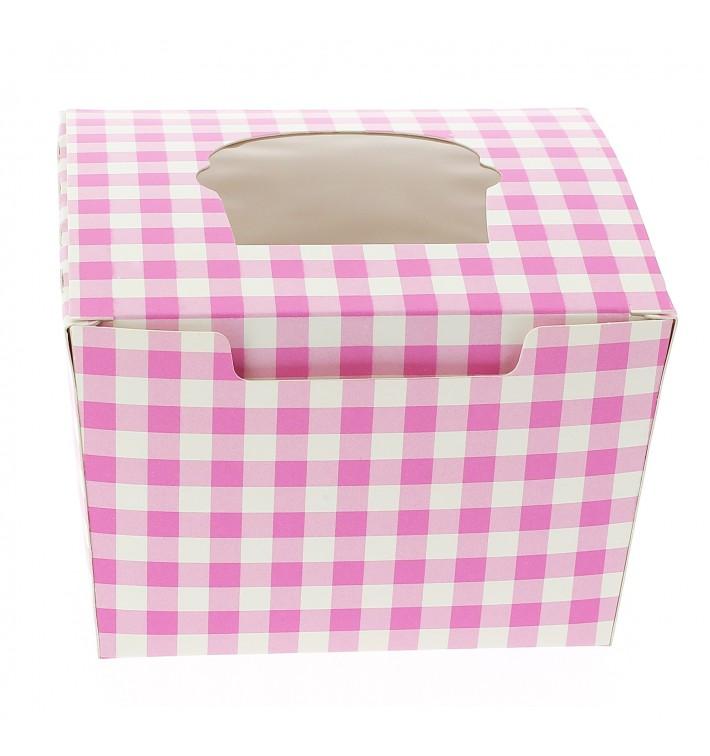 Caixa 1 Cupcake Rosa 11x10x7,5cm (20 Unidades)