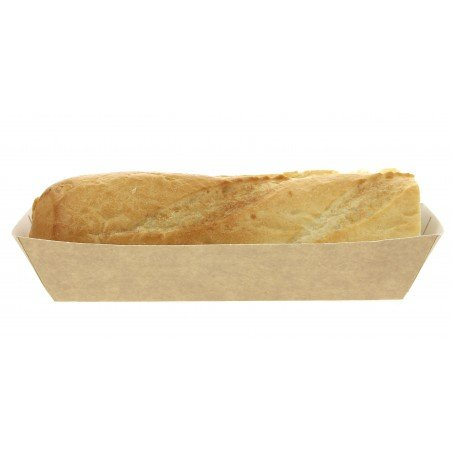 Barqueta Hot Dog Kraft 17x5,5x3,8cm (25 Unidades)