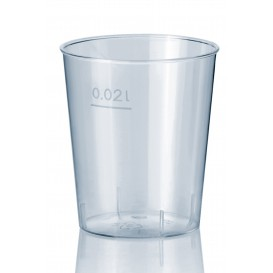 Copo Shot Plastico Cristal PS 20 ml (50 unidades)