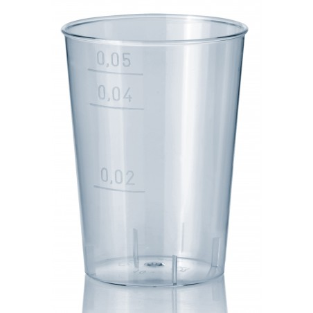Copo Plastico Cristal Transparente PS 50ml (40 Uds)