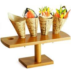Stand de Bambu para 5 Cones (10 Uds)