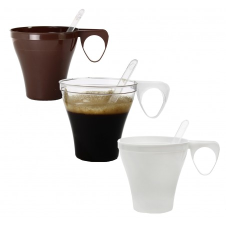 Chavena Plastico PS Marrom 80 ml (40 Unidades)