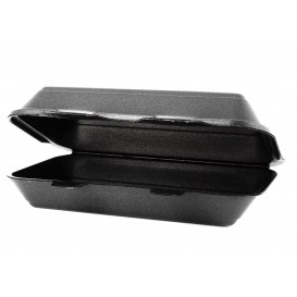 Embalagem Foam LunchBox Preto 240x155x70mm (125 Uds)