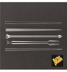 Pick de Plastico Snack Stick Transparente 90 mm (1650 Unidades)