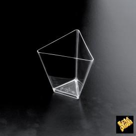 Tigela Degustação Triangle Transparente 70 ml (25 Unidades)