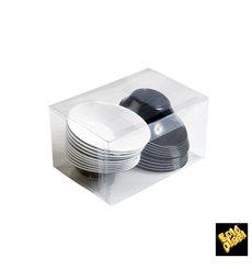 """Tigela Plastico """"Sodo"""" em preto e branco 50 ml (240 Unidades)"""