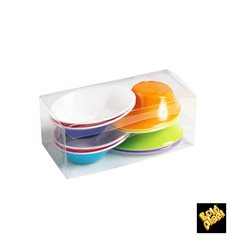"""Tigela Plastico """"Sodo"""" em branco e multicolorido 50 ml (8 Unidades)"""