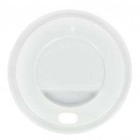 Tampa Perfurada Copo Branco 7oz/210ml Ø7,3cm (100 Uds)