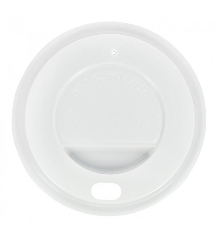 Tampa Perfurada Branca Copo 12oz/384ml Ø8,5cm (100 Uds)