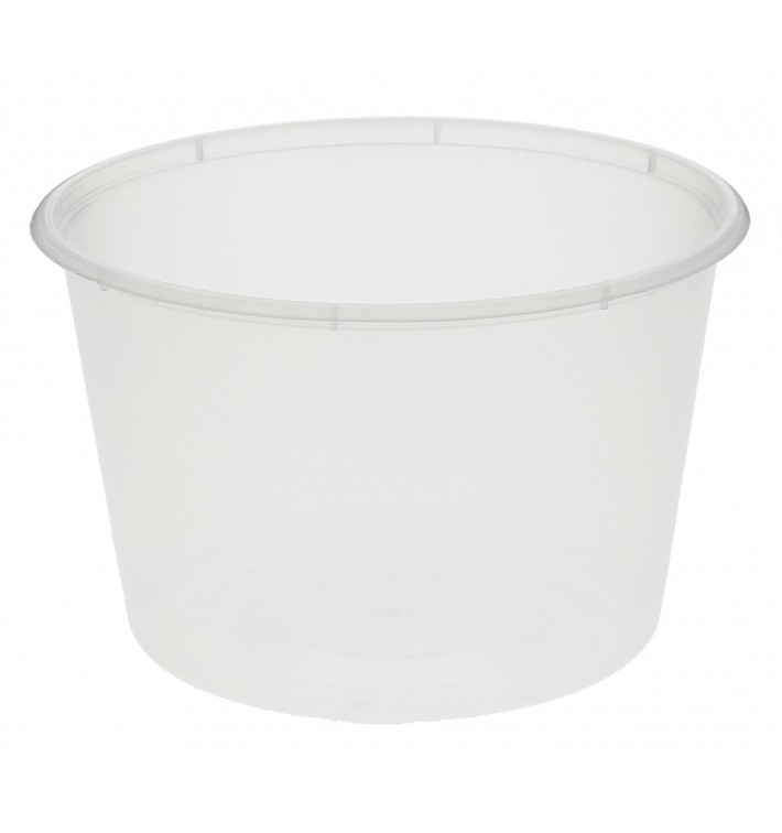 Embalagem Plastico Redondo Transp. 550ml (50 Uds)