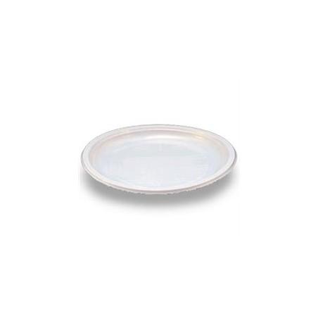 Plato Llano de Plastico PS Blanco 205 mm  (Paquete 100 unidades)