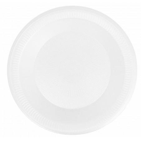 Prato fundo Isopor Branco 225 mm (100 Unidades)