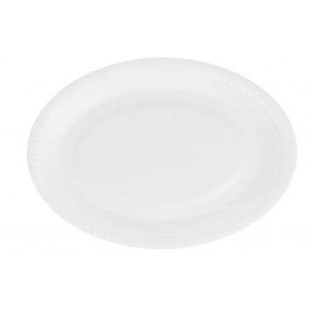 Prato Oval  Branco 260 mm (50 Unidades)