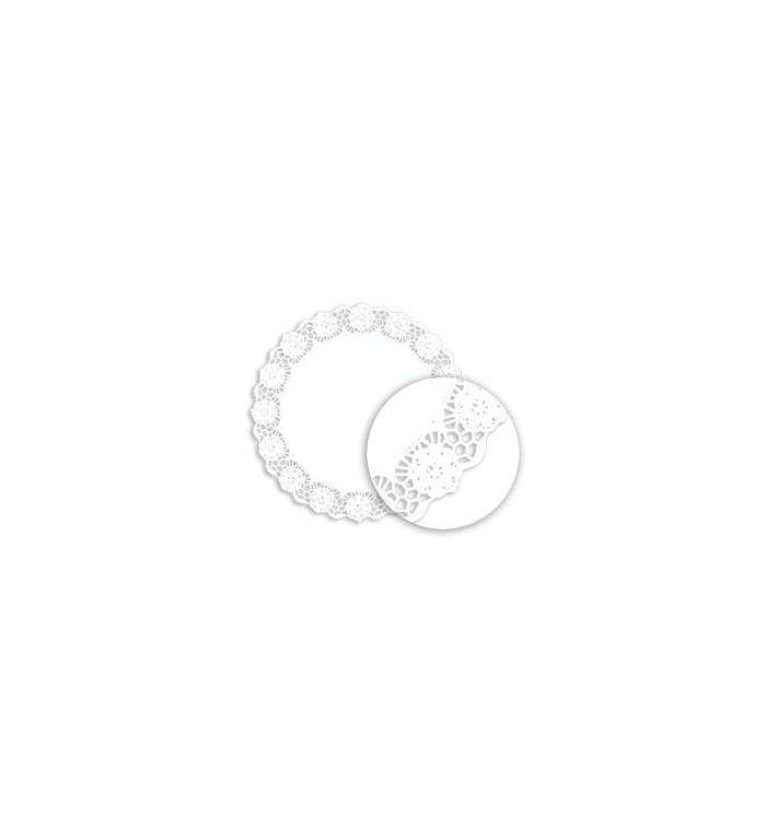 Naperon Papel Rendado Branco Circular 230mm (250 Uds)