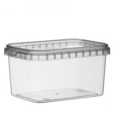 Embalagem Plastico Rectangular inviolável 425ml 120x88mm (184 Uds)