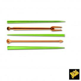 Pick de Plastico Snack Stick Multicolorido 90 mm (1650 Unidades)
