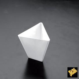 Tigela Degustação Triangle Branco 70 ml (25 Unidades)
