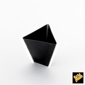 Tigela Degustação Triangle Preto 70 ml (25 Unidades)