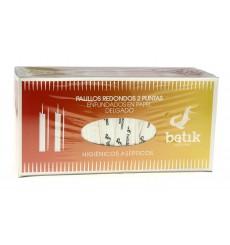 Palitos de Madeira Redondo 2 Pontas Embainhados 65mm (5 Uds)