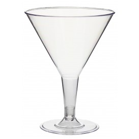 Copo MARTINI o COCKTAIL de Plástico 215ml 2P (25 Uds)