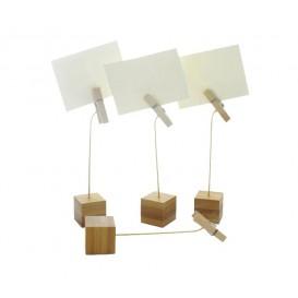 Suporte para Cartões de Bambu 130mm (12 Uds)