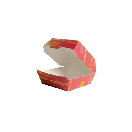 Envase Hamburguesa Carton 14x13x7,0cm (Paquete 40 unidades)