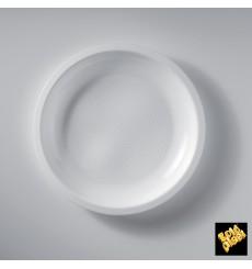 Prato Plastico Raso Branco Ø220mm (50 Uds)